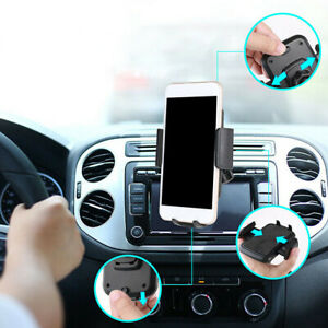 1x Cd Slot Car Phone Holder Universal Cell Phone Auto Mount For Iphone Samsung