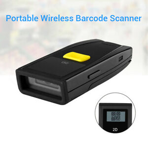 Portable Bluetooth 2d Qr Barcode Scanner Bar Code Reader With Screen For Windows