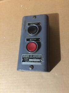 Vintage Square D Ga 12 9001 Start stop Control Station 600v Never Installed