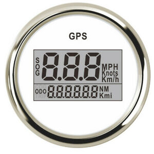 Universal 52mm Gps Speedometer Odometer Gauge For Boat Marine Car Truck Silver