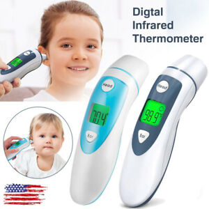 Digital Infrared Thermometer Lcd Non contact Adult Baby Kids Body Temperature Br