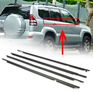 4pcs Weather Strip Door Window Moulding Trim Seal Belts For Toyota Lexus Gx470