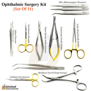 Ophthalmic Surgery Instruments Plastic Surgery Instrument Kit Eye Surgery Tools
