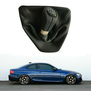 6 Speed M Gear Shift Knob With Leather Boot Gaiter For Bmw 3 Series E90 E91 E92