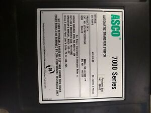 Asco 7000 Series J07atbc30260n5xc 260a 480v Automatic Transfer Switch Guaranteed