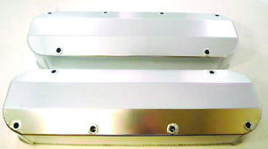 Aluminum Polished Fabricated Big Block Ford Tall Valve Covers 429 460 No Hole