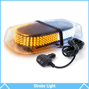 Amber White 240 Led Emergency Warning Light Roof Top Strobe Snow Plow Light