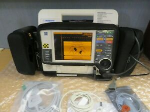 Medronic Lifepak 12 Biphasic 12 Lead Ecg Spo2 Aed Adivisory Pacer Case 17017