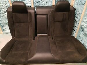 2017 Dodge Challenger Rear Seat Set Black Leather Suede Cpe Scat Pack Oem