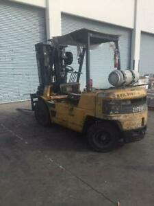 2003 Caterpillar Cat Forklift Gp40 8000lbs Capacity Pneumatic Tires 8500 Hours