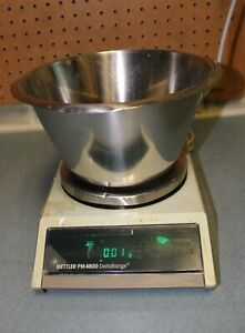 Mettler Pm4600 Deltarange Balance Scale Pm 4600 W Stainless Steel Bowl