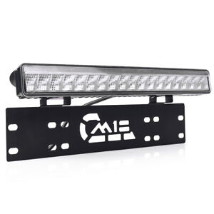 Mictuning License Plate Frame Holder Bumper Mount Bracket 15 50w Led Light Bar