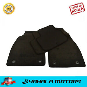 Black Floor Mats For 2013 2015 Chevrolet Malibu Front Rear Set