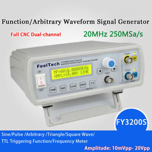 Fy3200 20mhz Dual channel Dds Function Waveform Signal Generator Counter Us T2t0