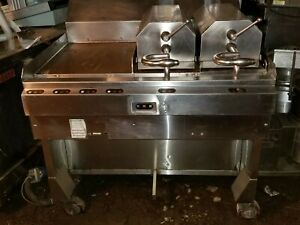 Taylor Meat Press Comercial Flat Top Grill F802 23 Stainless 2 Platen Clamshell
