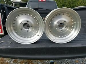 2 Vintage Centerline 15 X 3 1 2 Racing Wheels Gm 5 X 4 3 4 Bolt Pattern