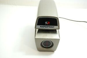 Rapidprint Model Ar e Date Time Time Clock Stamp Machine Clean Works But No Key