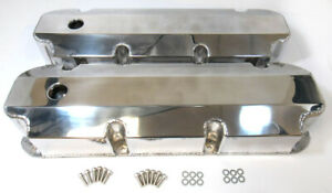 Aluminum Polished Fabricated Big Block Ford Tall Valve Covers 429 460 With Hole