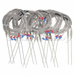 20 Sets 2m Steel 1 5x100mm Probe K Type Sensor High Temperature Thermocouple