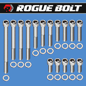 Sbf Water Pump Timing Cover Bolts Stainless Kit Small Block Ford 289 302 351w P