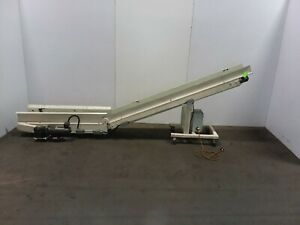 Tec Incline Parts Chip Conveyor Cleated Variable Speed 115v 1ph