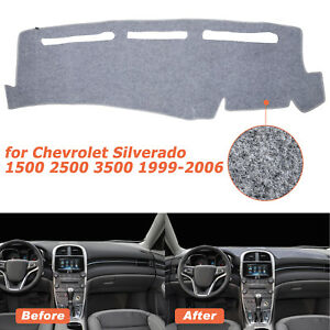 Us Dash Cover Dashboard Mat For Chevy Silverado 1500 2500 Tahoe 2000 2006 Gray