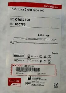 Cook Medical Thal quick Chest Tube Set Exp 2012 04 16