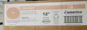 New Old Stock Americo 12 Tan Floor Buffer Pads case Of 5 free Shipping