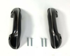 Pair Black Arm Rests W Screws For 1955 66 Chevy Gmc Pickup Truck