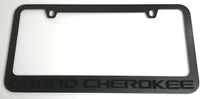 Matte Black Premium License Plate Frame Letters Emblem For Jeep Grand Cherokee