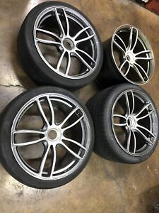 Porsche 911 991 2016 Gts Oem 20 Center Lock Wheels And Tires See Pictures