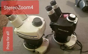 Bausch Lomb 0 7x 3x Stereozoom4 Microscope B l 1x 2 5x With Led Ring