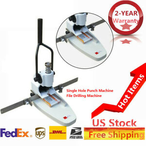 B3 370 265 130mm Single Hole Punch Machine 3 5cm Paper tag Aperture Adjustable