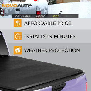 Tonneau Cover Truck Bed For 05 18 Nissan Frontier Crew Cab 5ft 3 fold