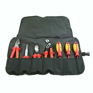 Knipex 989825us Insulated High Leverage Pliers Screwdriver Hand Tool Set 7 Pc