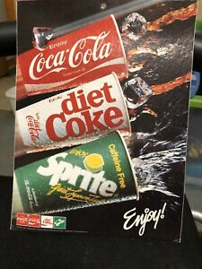 Coca Cola Cardboard Hanging Sign Note The Hole In Top Same Both Sides