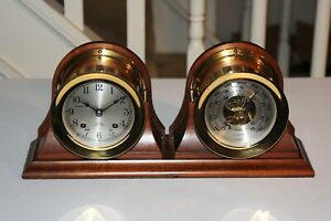 Chelsea Ship S Bell Clock Barometer Set 4 1 2 Inch Boston U S A Vintage