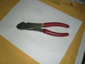 Snap On 8 Red Grip Diagonal Angled Cutting Cutter Pliers Usa
