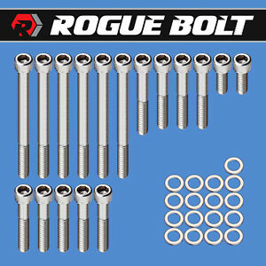 Bbf Water Pump Timing Cover Bolts Stainless Steel Kit Big Block Ford 429 460
