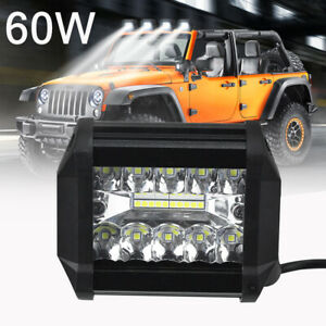 60w Led Car Work Light Bar Spot Flood Beam Off Road Suv Truck Driving Fog Lamp