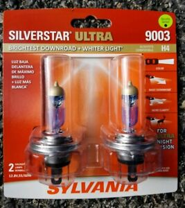 Sylvania Silverstar Ultra 9003 Dual Pack Halogen Headlights Brand New Sealed