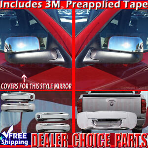 For 2002 2008 Dodge Ram Chrome Door Handle Covers 2kh mirrors Tow tailgate Cover
