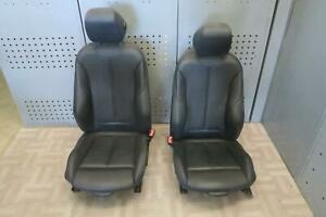 2014 2016 Bmw 428i Front Left Right Seat Set Bucket Leather Electric Cpe Oem