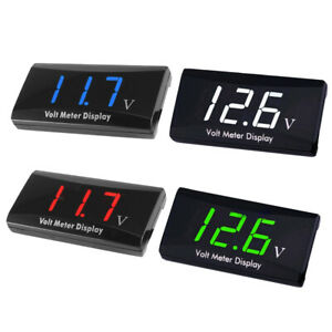 12v Digital Led Display Voltmeter Voltage Gauge Panel Meter For Motorcycle Car