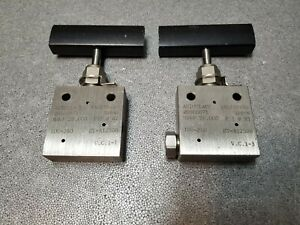 Lot Of 2 Autoclave Engineers 3 8 Medium Pressure Needle Valves 20sm6071
