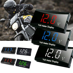 Car Motorcycle Digital Led Display Voltmeter Voltage Gauge Panel Meter Accessory