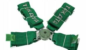 Racing Seat Belts Sport M 5106 4 points 3 quot Green Takata Replica