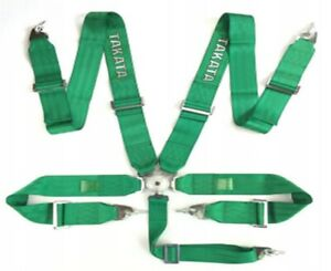 Racing Seat Belts Sport M 5112 5 points 3 quot Green Takata Replica