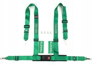 Racing Seat Belts Sport M 5122 4 points 3 quot Green Takata Replica