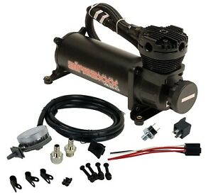 Black Air Compressor With Air Intake Filter Relocator Airmaxxx 480 180 Psi Kit